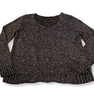 Eileen Fisher tweed italian yarn cotton sweater M